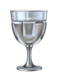 Eisbecher aus Edelstahl mit Glaseinsatz