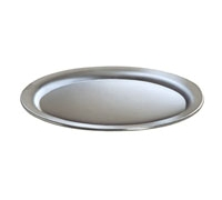 Vassoio di servizio ovale in acciaio inox
