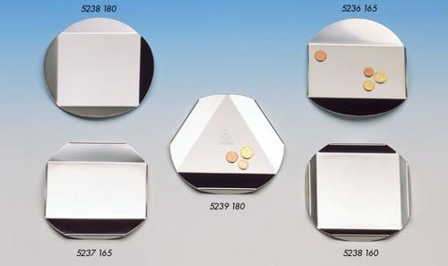 Cinque piattini per le monete in acciaio inox
